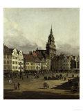 The Old Market in Dresden Impressão giclée por  Canaletto