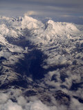 View of Mount Everest Massif and Makalu, Above the Barun River Reproduction photographique par Gordon Wiltsie