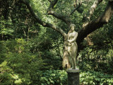 Statue of Virginia Dare at the Elizabethan Gardens Photographic Print by Vlad Kharitonov