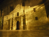Night Time-Exposed Zoom Gives Haunting View of Texas' Historic Alamo Photographic Print by Stephen St. John