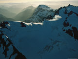 Mount Olympus and Other Snow-Capped Peaks in the Olympic Mountains Photographic Print by Melissa Farlow