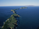 Aerial View of East Anacapa Island in the Channel Islands Fotografisk tryk af Rich Reid