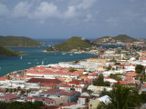Overhead of Charlotte Amalie from Blackbeard's Castle on Government Hill Fotografisk tryk af Margie Politzer