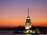 Kiz Kulesi, Uskudar Fotografisk tryk af Izzet Keribar