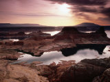 Lake Powell, Gunsight Butte and Bay from Romana Mesa, Navajo Mountain Premium-Fotodruck von Witold Skrypczak