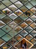 Diamond Windows of Prada Aoyama Building Fotografisk tryk af Anthony Plummer