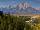 Grand Teton Range from Snake River Overlook Photographic Print by Emily Riddell