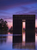 Gate of Time and Reflecting Pool, Oklahoma City National Memorial Photographic Print by Richard Cummins
