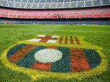 Coat of Arms of Futbol Club Barcelona at Camp Nou Stadium Reproduction photographique par Krzysztof Dydynski