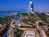Wild Wadi Waterpark Spreads Around the Foot of the Jumeira Beach Hotel Photographic Print by Mark Daffey