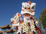 Head of Chinese Dragon Puppet Reproduction photographique par John Banagan