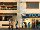 People Outside Cott's Takeaway, Cottesloe Beach Photographic Print by Orien Harvey