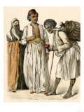 Egyptian Couple Buying a Drink from a Water-Seller in Port-Said, Egypt Lámina giclée