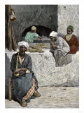 Arab Bakers at their Bread Oven in Cairo, Egypt, 1880s Giclée-vedos