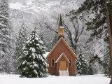 Church in Winter Fotografie-Druck von Douglas Steakley