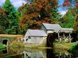 Mabry Mill Near Meadows of Dan Fotografisk trykk av Dennis Johnson