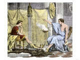 Aristotle Instructing the Young Alexander the Great Giclée-tryk