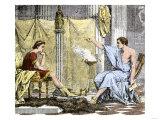 Aristotle Instructing the Young Alexander the Great Lámina giclée