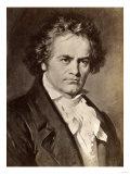 Ludwig Van Beethoven Giclée-tryk