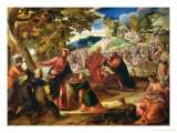 Miracle of the Loves and Fishes Lámina giclée por Jacopo Robusti Tintoretto