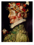 Printemps Reproduction procédé giclée par Giuseppe Arcimboldo