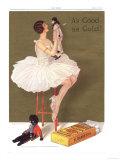Will's, Cigarettes Smoking Gold Flake Golliwogs, UK, 1930 Giclee Print