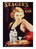 Seagers, Glamour Gin Cocktails, UK, 1930 Giclee Print