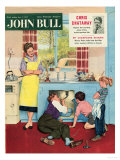 John Bull, Plumbers Plumbing DIY Mending Kitchens Sinks Magazine, UK, 1950 Giclée-tryk