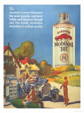 Mobiloil Gas Stations Day Trips, USA, 1920 Giclee Print