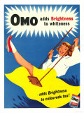 Omo, Washing Powder Products Detergent, UK, 1950 Giclée-tryk