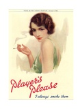 Player's Navy Cut, Cigarettes Smoking, UK, 1930 Giclee Print