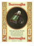 Equipment Burroughs, Adding Machines, Accountants, USA, 1929 Giclée-vedos