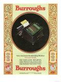 Equipment Burroughs, Adding Machines, Accountants, USA, 1929 Giclee-trykk