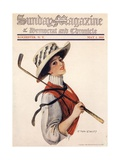 Sunday Magazine, Golf Womens Hats Portraits Magazine, USA, 1910 Giclée-tryk