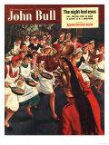 John Bull, Pancakes Day Races Magazine, UK, 1951 Reproduction procédé giclée