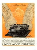 Underwood Portable Typewriters Equipment, USA, 1922 Giclee-trykk