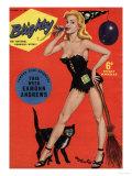 Blighty, Glamour Pin-Ups Models Halloween Magazine, UK, 1958 Giclée-tryk