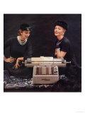 Burroughs Sensimatic Adding Machines Equipment, USA, 1950 Giclee-trykk