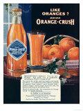 Orange-Crush, Oranges, USA, 1920 Lámina giclée