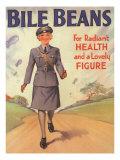 Bile Beans, Uniforms WWII Medical Medicine, UK, 1940 ジクレープリント