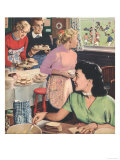 John Bull, Cooking Rugby Tea Girlfriends Baking Magazine, UK, 1956 Giclee Print
