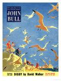 John Bull, Holiday Beaches Seagulls Magazine, UK, 1953 ジクレープリント