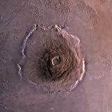 Olympus Mons, the Largest known Volcano in the Solar System Fotografie-Druck von  Stocktrek Images