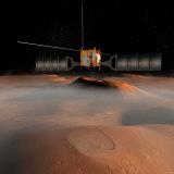 Artist's Concept of Mars Express Spacecraft in Orbit around Mars Fotografie-Druck von  Stocktrek Images