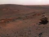 Spirit Mars Exploration Rover on the Flank of Husband Hill Fotografie-Druck von  Stocktrek Images