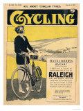 Cycling, Bicycles Magazine, UK, 1922 Giclée-tryk
