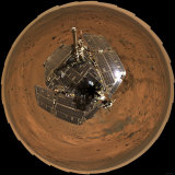 Mars Exploration Rover on the Surface of Mars Fotografie-Druck von  Stocktrek Images