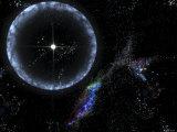Neutron Star SGR 1806-20 Producing a Gamma Ray Flare Fotografisk trykk av Stocktrek Images,