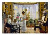 Afternoon Tea, c.1914 Giclée-Druck von Paul Fischer