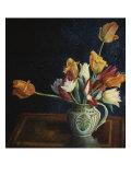Tulips in a Staffordshire Jug, Catalogue No. 210C Gicléetryck av Dora Carrington